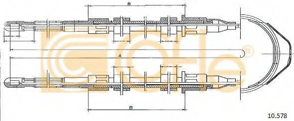 COFLE 10578 Трос, стояночная тормозная система