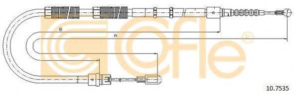 COFLE 107535 Трос, стояночная тормозная система