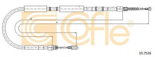 COFLE 107536 Трос, стояночная тормозная система