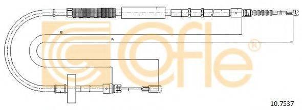 COFLE 107537 Трос, стояночная тормозная система