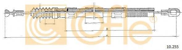 COFLE 10255 Трос, управление сцеплением