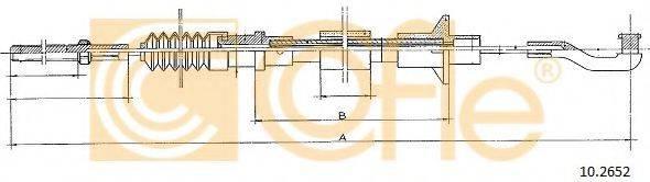 COFLE 102652 Трос, управление сцеплением