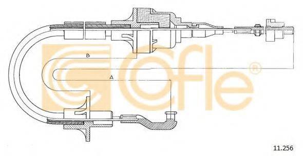 COFLE 11256 Трос, управление сцеплением