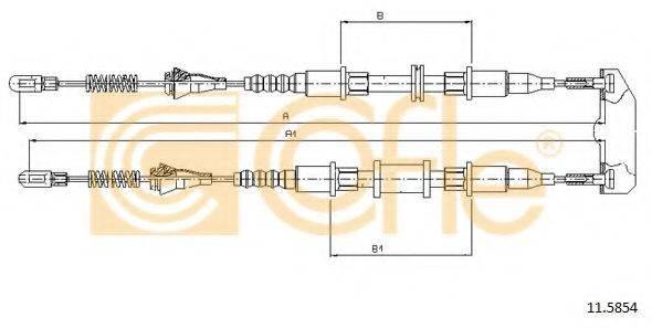 COFLE 115854 Трос, стояночная тормозная система