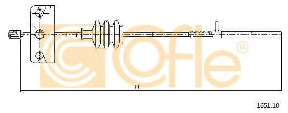 COFLE 165110 Трос, стояночная тормозная система
