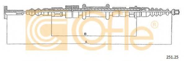 COFLE 25125 Трос, стояночная тормозная система