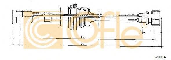 COFLE S20014 Тросик спидометра