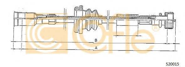 COFLE S20015 Тросик спидометра