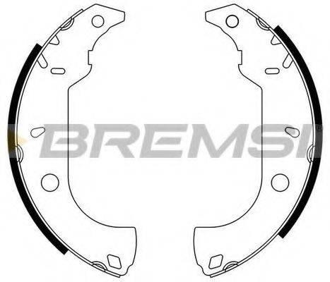 BREMSI GF0170 Комплект тормозных колодок