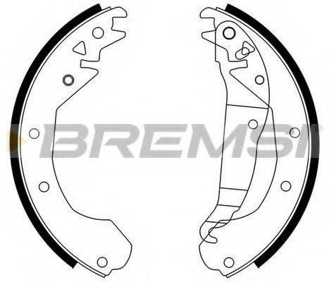 BREMSI GF0351 Комплект тормозных колодок