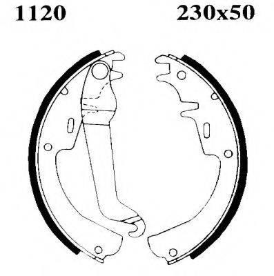 BSF 01120 Комплект тормозных колодок