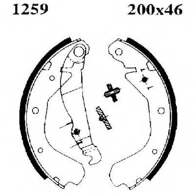 BSF 01259 Комплект тормозных колодок