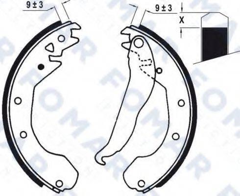 FOMAR FRICTION FO0418 Комплект тормозных колодок