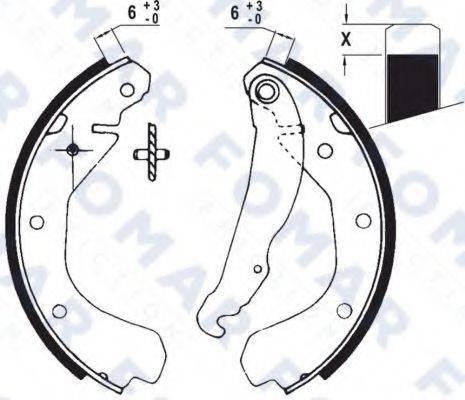 FOMAR FRICTION FO0419 Комплект тормозных колодок