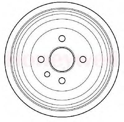 BENDIX 329202B Тормозной барабан