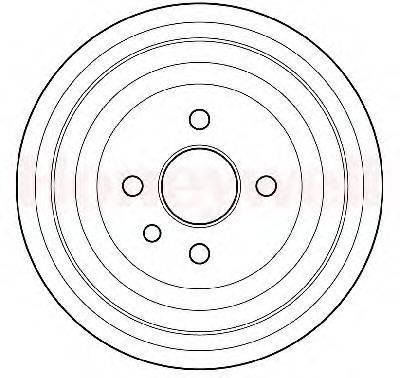 BENDIX 329204B Тормозной барабан