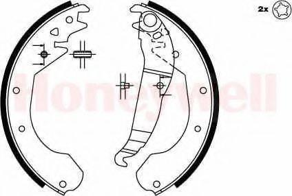 BENDIX 362243B Комплект тормозных колодок