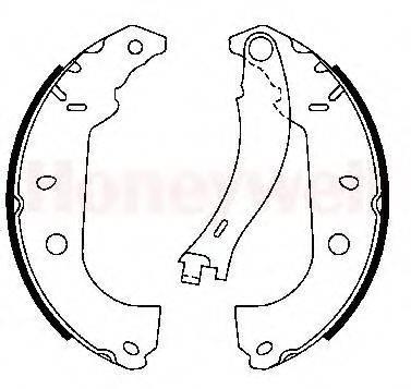 BENDIX 362325B Комплект тормозных колодок