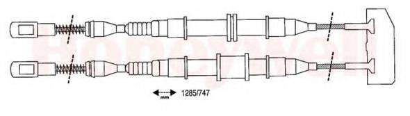 BENDIX 432103B Трос, стояночная тормозная система