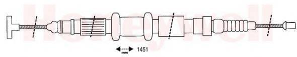 BENDIX 432627B Трос, стояночная тормозная система