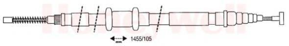 BENDIX 432628B Трос, стояночная тормозная система