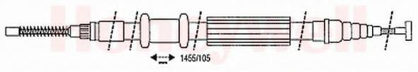 BENDIX 432629B Трос, стояночная тормозная система