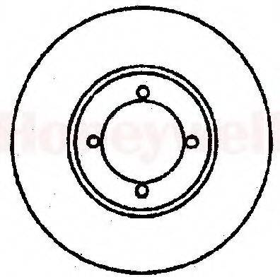 BENDIX 561292B Тормозной диск