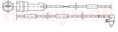 BENDIX 581307 Сигнализатор, износ тормозных колодок
