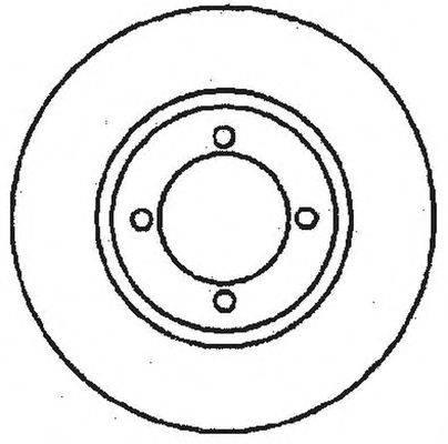 BENDIX 561097B Тормозной диск