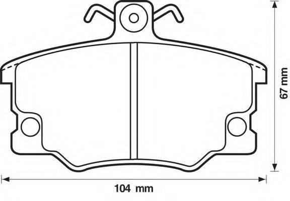 BENDIX 571309B Комплект тормозных колодок, дисковый тормоз