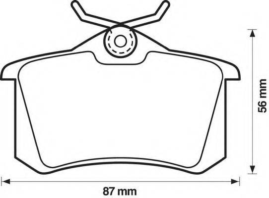 BENDIX 571361B Комплект тормозных колодок, дисковый тормоз