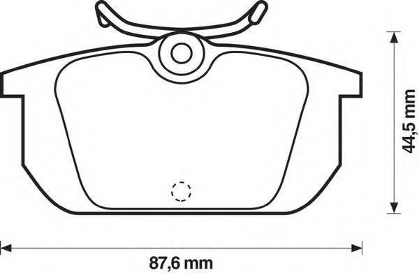 BENDIX 571409B Комплект тормозных колодок, дисковый тормоз