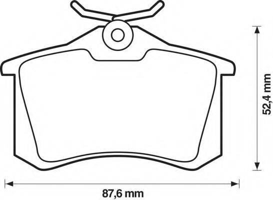 BENDIX 571906B Комплект тормозных колодок, дисковый тормоз