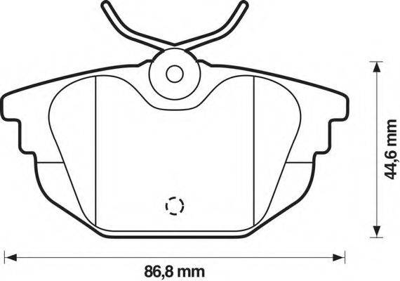 BENDIX 571979B Комплект тормозных колодок, дисковый тормоз