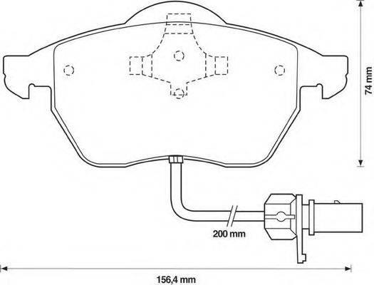 BENDIX 571982B Комплект тормозных колодок, дисковый тормоз