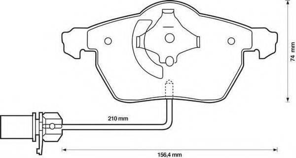 BENDIX 573037B Комплект тормозных колодок, дисковый тормоз