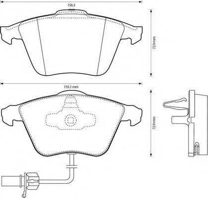 BENDIX 573145B Комплект тормозных колодок, дисковый тормоз