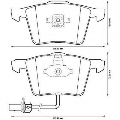 BENDIX 573196B Комплект тормозных колодок, дисковый тормоз