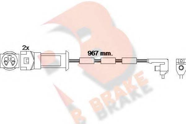 R BRAKE 610069RB Сигнализатор, износ тормозных колодок
