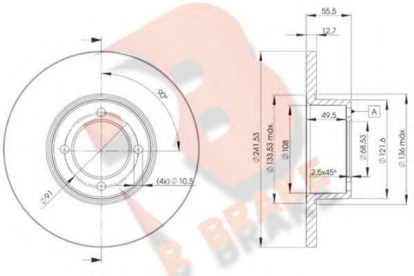 R BRAKE 78RBD20751 Тормозной диск