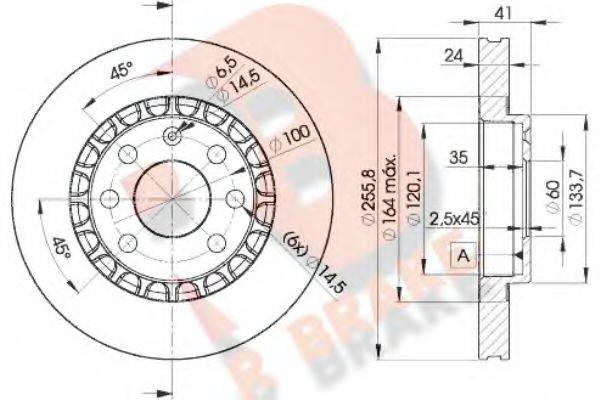 R BRAKE 78RBD29042 Тормозной диск