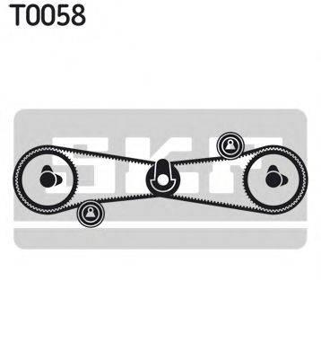 SKF VKMA02501 Комплект ремня ГРМ