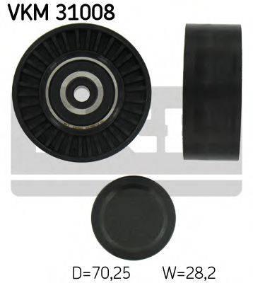 SKF VKM31008 Паразитный / ведущий ролик, поликлиновой ремень