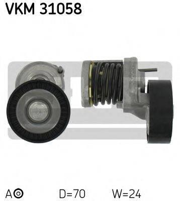 SKF VKM31058 Натяжной ролик, поликлиновой  ремень