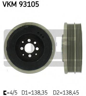 SKF VKM93105 Ременный шкив, коленчатый вал