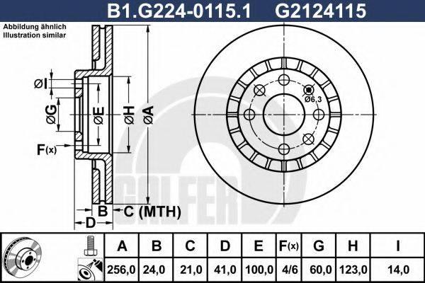 GALFER B1G22401151 Тормозной диск