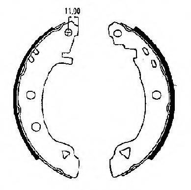 FTE BB1109A2 Комплект тормозных колодок