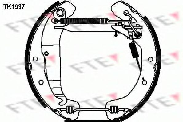 FTE TK1937 Комплект тормозных колодок