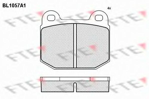FTE BL1057A1 Комплект тормозных колодок, дисковый тормоз
