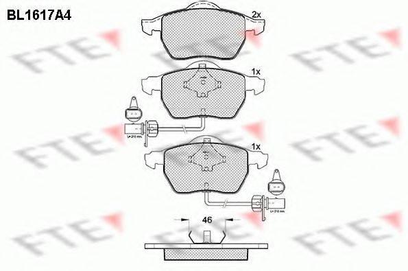 FTE BL1617A4 Комплект тормозных колодок, дисковый тормоз